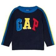 GAP True Indigo, Blue, Red and Yellow Branded Sweater 12-18 mnd