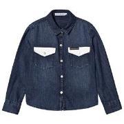 Calvin Klein Jeans Dark Wash Denim Shirt 4 years