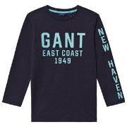 GANT East Coast Long Sleeve Tee Navy 122-128cm (7-8 years)