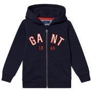 GANT Logo Zip Hoodie Evening Blue 98-104cm (3-4 years)