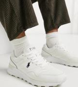Polo Ralph Lauren x ASOS exclusive collab trackster trainers in cream ...