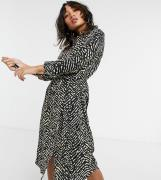 Vero Moda Petite midi shirt dress in animal print-Multi