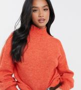 Vero Moda Petite jumper with balloon sleeves in -Red